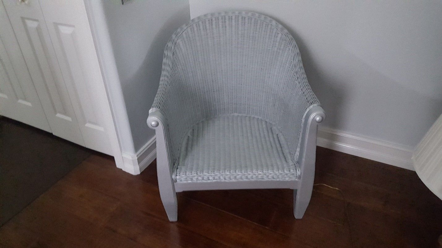 chair painted in white