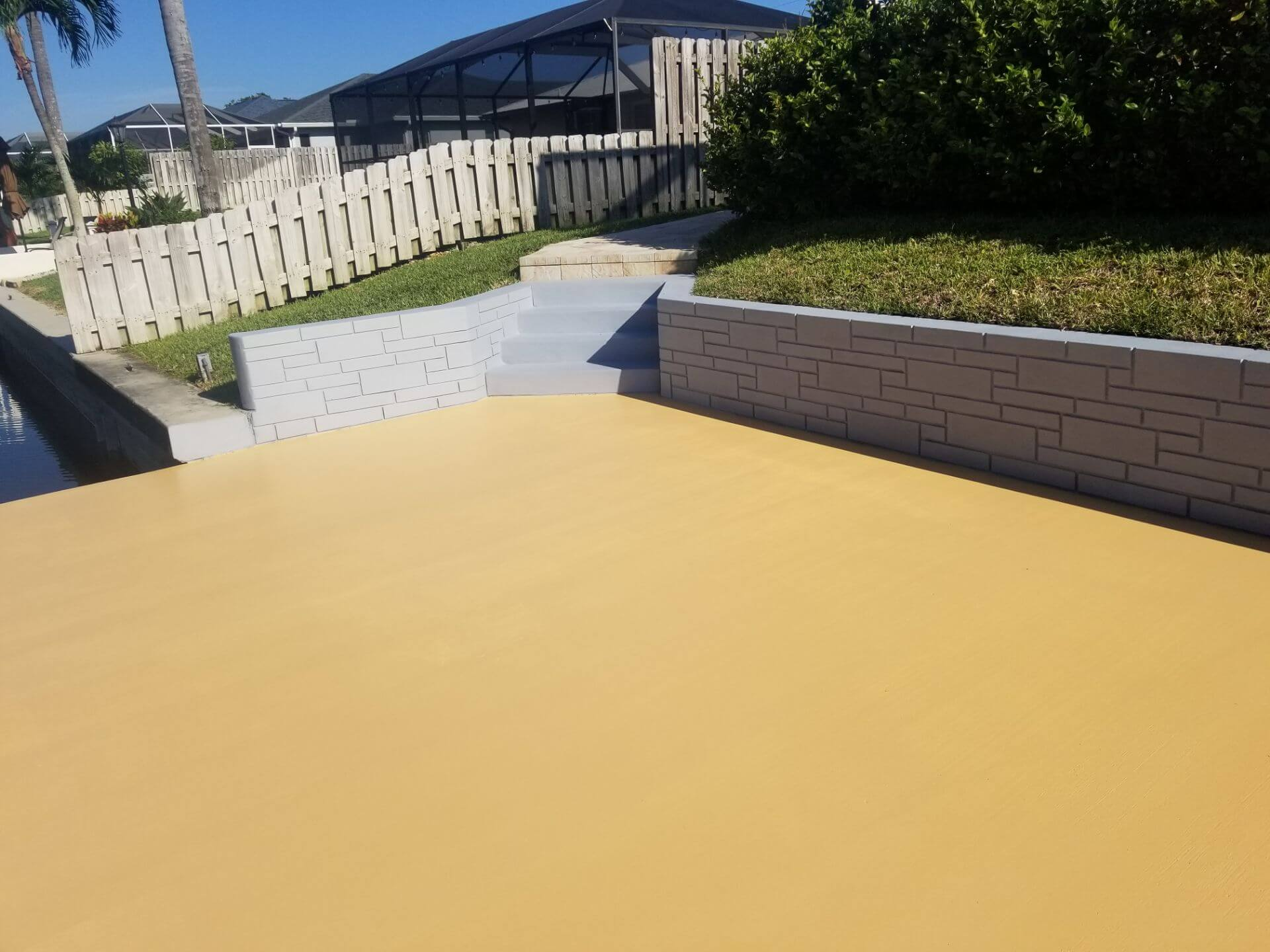 painted driveway